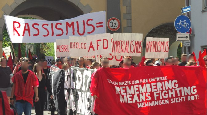 Remembering means fighting – Memmingen sah rot!